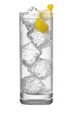 The 57 and Soda is a clear colored drink made from Smirnoff vodka, club soda and lemon, and served over ice in a highball glass.