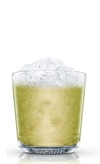 The Absolut Kiwi Cocktail is a refreshing green colored drink made from Absolut Citron lemon vodka, kiwi fruit and sugar, and served over ice in a rocks glass.