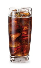 The Apple Beer is a brown drink made from sour apple schnapps, root beer schnapps and cola, and served over ice in a highball glass.