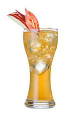The Apple Comfort is made from Southern Comfort 100 Proof, apple juice and lemon juice, and served over ice in a highball glass.