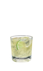 The Apple Seeds is made from Smirnoff green apple vodka, watermelon vodka, sour mix and lemon-lime soda, and served over ice in a rocks glass.
