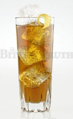 The Bitter Highball is a light and refreshing drink made from Jerry Thomas' bitters and ginger ale, and served over ice in a highball glass.