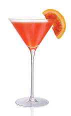 The Blood Orange 100 is made from Stoli 100 vodka, blood orange liqueur and lemon juice, and served in a chilled cocktail glass.