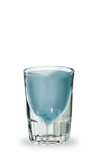 The Blue Hooter is a blue shot made from Pucker Island Punch Schnapps and Pucker Watermelon Schnapps, and served in a chilled shot glass. The cool blue shot is perfect for body shots.