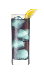 The Blue Violet is a blue drink made from Smirnoff blueberry vodka, blue-orange liqueur, raspberry schnapps, sour mix and white cranberry juice, and served over ice in a highball glass.