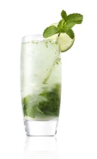 Mojitos are great summertime drinks, when made with a good quality light rum, such as Caliche. The Cali Mojito drink recipe is made from Caliche rum, lime juice, agave nectar, mint and club soda, and served over crushed ice in a highball glass.