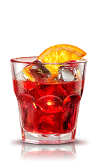 The Campari on the Rocks is an elegant red drink made from Campari and orange, and served over ice in a rocks glass.