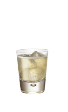 The Cherry Splash is made from Smirnoff cherry vodka and lemon-lime soda, and served over ice in a rocks glass.