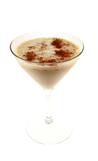 The Chocolate Marshmallow is a cream colored cocktail made from Smirnoff marshmallow vodka, Godiva chocolate liqueur, half & half and cinnamon, and served in a chilled cocktail glass.