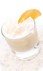 No need for Pina Coladas when you go to Brazil, rum is hard to find. No worries, cachaca is everywhere, and mixes just as good. The Coconut Chiller drink recipe is made from Leblon Cachaca, pineapple juice, coconut cream, coconut and orange, and served over ice in a rocks glass.