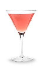 The Cosmopolitan is a classic pink cocktail made from triple sec, vodka, cranberry juice and lime juice, and served in a chilled cocktail glass.