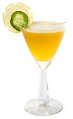 Summer in New Orleans is a hot and steamy time enjoyed by all. The Creole Summer cocktail recipe is made from vanilla vodka, Limoncello, sweet and sour mix, passion fruit, egg white and green Tabasco sauce, and served in a chilled cocktail glass garnished with lemon and jalapeno slices.