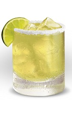 The Cuervo Margarita is a variation of the classic Margarita drink, made from Jose Cuervo gold tequila, lime margarita mix, lime wedges and salt, and served in a rocks glass.