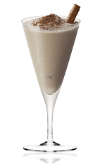 The Dom Pedro Amarula is a cream colored cocktail made from Amarula cream liqueur, vanilla ice cream, heavy cream and chocolate, and served in a chilled cocktail glass.