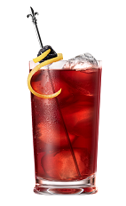 The Fleur de Lis drink is made from Chambord raspberry liqueur, Chambord flavored vodka, lemonade, lemon juice and cranberry juice, and served over ice in a highball glass.