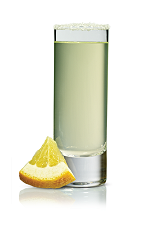 The Lucious Lemon Drop shot is made from Stoli Citros citrus vodka, lemon juice and agave nectar, and served in a chilled shot glass.