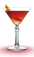 The Mandarine Cosmo is a top-shelf orange cocktail made from Mandarine Napoleon, Absolut Citron vodka, cranberry juice and lime juice, and served in a chilled cocktail glass.