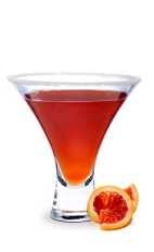 The Mediterranean Sidecar is a modern variation of the classic sidecar drink. A red drink made from cognac, orange liqueur, sour mix and sugar, and served in a chilled cocktail glass.