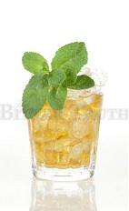 The Mint Julep is the classic Kentucky Derby cocktail. This version is an orange drink made from bourbon, apricot liqueur, lemon bitters, simple syrup and mint, and served over ice in a rocks glass.