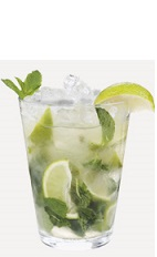 The Mojito is one of the most popular classic rum cocktails. Made from a simple recipe of limes, mint leaves, cane sugar and white rum, the Mojito is served in a highball glass.