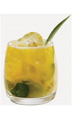 The Pineapple Sunset is an orange colored cocktail recipe made from Burnett's pineapple vodka, orange juice and lime juice, and served over ice in a rocks glass.