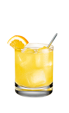 The Pineapple and Orange Juice is an orange colored drink made form Smirnoff pineapple vodka, orange juice, lime juice and orange, and served over ice in a rocks glass.
