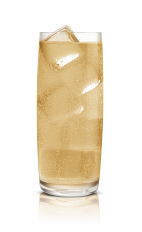 The Salted Cream Soda is made from Stoli Salted Karamel vodka and cream soda, and served over ice in a highball glass.