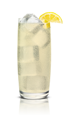 The Salty Sweet Sour drink is made from Stoli Salted Karamel vodka and lemonade, and served over ice in a highball glass.