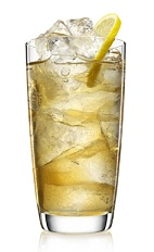 The Spiced Island Tea is a refreshing summer tea made from Malibu Island spiced rum, iced tea, lemon juice and lemon, and served over ice in a highball glass.