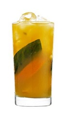 Celebrate the summer, Capri-style. The Summer in Capri drink recipe is made form 42 Below Passion vodka, mango juice, basil and orange, and served over ice in a highball glass.