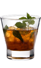 The 56 Julep is an exciting variation of the Kentucky Derby Mint Julep drink. A wild drink made from Wild Turkey bourbon, mint and brown sugar, and served over ice in a rocks glass.