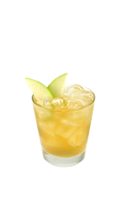 The Perfect Pear drink is made from Smirnoff Pear vodka, Cointreau orange liqueur, sweet vermouth, lemon juice and simple syrup, and served over ice in a rocks glass.