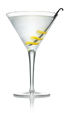 The Vanilla Martini cocktail is made from Stoli Vanil vanilla vodka, lemon juice and agave nectar, and served in a chilled cocktail glass.