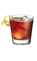 The Velvet Jack drink is made from Chambord raspberry liqueur, Jack Daniel's Tennessee Whiskey and sour mix, and served in an old-fashioned glass.