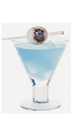 The Whale Spout is a blue colored cocktail recipe made from Burnett's spiced rum, lemonade and blue curacao, and served in a chilled cocktail glass.