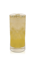 The White Passion drink recipe is made from Don Q Passion rum, white rum, passion fruit, simple syrup and club soda, and served over ice in a highball glass.