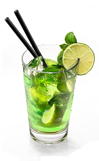 The Xenta Mojito is a mysterious variation of the classic Mojito drink. A green cocktail made from Xenta absinthe, lime, sugar, mint and club soda, and served over ice in a highball glass. Perfect as a Halloween drink, or to warm your bones during a cold winter night.