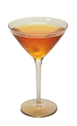 The 100 Proof Martini is an orange colored drink made form Southern Comfort 100 Proof and dry vermouth, and served in a chilled cocktail glass.