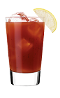 The 57 Wasabi Bloody Mary is a red colored drink made from Smirnoff No 57 vodka, tomato juice, worcestershire sauce, hot sauce, black pepper and wasabi, and served over ice in a highball glass.