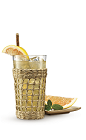 The 9 and Ting drink recipe is made from Cruzan 9 spiced rum and Ting lemon-lime soda, and served over ice in a highball glass.