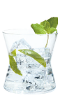 The Agricole Mojito cocktail recipe is made from Clement Premiere Canne rum, sugar syrup, mint, lime and club soda, and served over ice in a rocks glass.