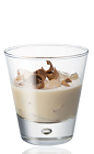 The Amarula Brandy and Cream is a cream colored drink made from Amarula cream liqueur, brandy, light cream and chocolate, and served over ice in a rocks glass.