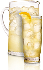 The American Honey Lemonade is a refreshing summer lemonade spiked with a new American classic spirit. Made from American Honey honey bourbon, lemon juice and simple syrup, and served in tall glasses garnished with orange slices.