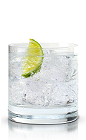 The Amsterdam Club soda is a crisp and refreshing clear colored drink made from New Amsterdam vodka, club soda, lime and lemon, and served over ice in a rocks glass.