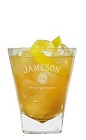 The Apricot Sour Jameson is an orange colored Saint Patrick's Day drink created in the fashion of traditional sour cocktails. Made from Jameson Irish whiskey, apricots, apricot brandy, apple juice and lemon juice, and served over ice in a rocks glass.