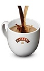 The Bailey's Hot Coffee drink is made from Bailey's Irish cream and hot coffee, and served in a coffee glass or coffee mug.