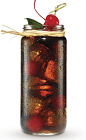 The Black Cherry and Cola drink recipe is made from Cruzan Black Cherry rum and cola, and served over ice in a highball glass.