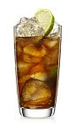 The Black Cola is a variation of the classic Rum and Coke drink. A brown colored drink made from Malibu Black golden rum, Coke or Pepsi and lime, and served over ice in a highball glass.