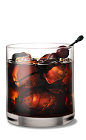 The Black Russian drink is a classic mixed drink made from a simple solution of Kahlua and vodka, and served over ice in a rocks glass.
