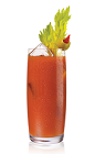 The Bloody Citrus drink is a variation on the classic Bloody Mary drink. Made from Stoli Citros vodka, tomato juice, lemon juice, horseradish, Worcestershire sauce, Tabasco hot sauce, salt and pepper, and served over ice in a highball glass.